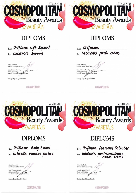 Орифлейм получила премии Cosmopolitan Beauty Awards 2010
