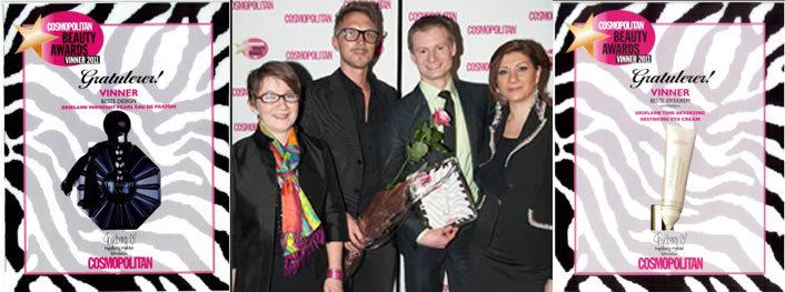 туалетная вода MIDNIGHT PEARL и антивозрастной крем Власть над временем от Орифлейм получили премию Cosmopolitan Beauty Awards 2011