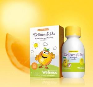 вэлнэс кидс омега-3 и витамины для детей