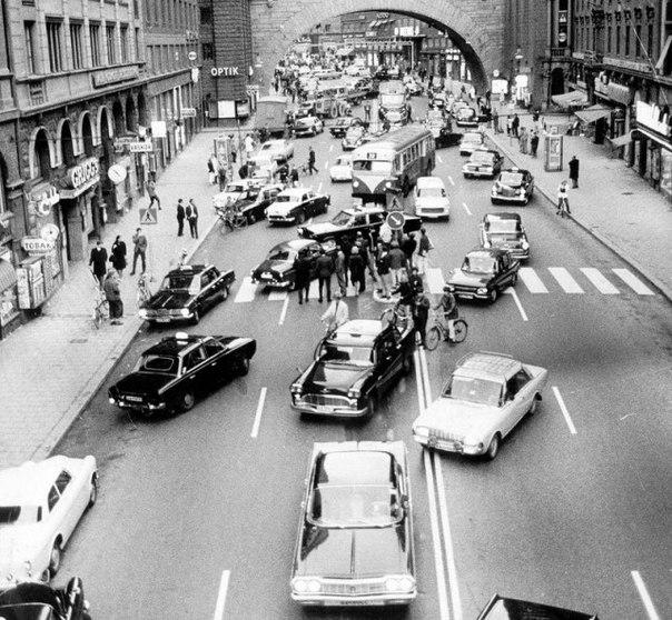 Стокгольм, 1967. Швеция переходит на правостороннее движение