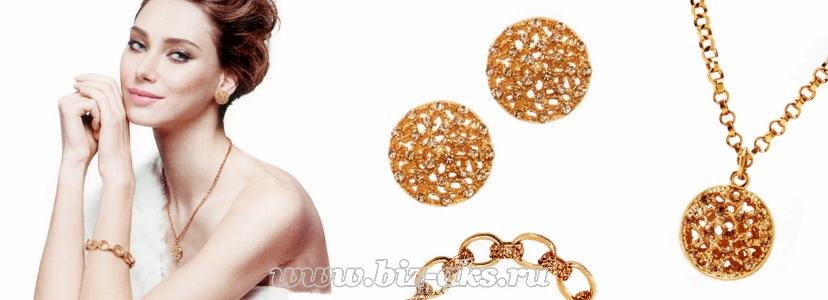 Брызги золота - колье, браслет и серьги коллекция Royal от Орифлейм