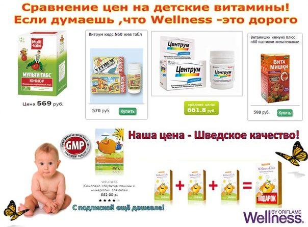 Сравнение детских витаминов